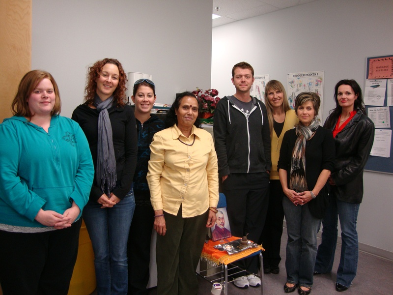 Reiki class at Medicine Hat College 2010 Fall